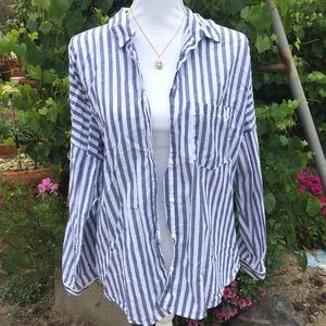 Zara Basic Striped Button Down